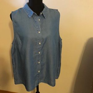XL sleeveless denim top